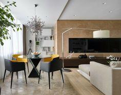 Wohnung Design - Der Essbereich befindet sich im Wohnzimmer