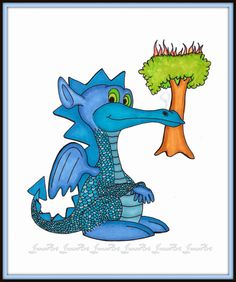 Dragon Wall Art Copic Markers Childrens Room Kids Home by JonsArt, $15.00