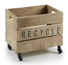 Contenedor Recy   Material: Madera Tropical   Mueble realizado en ... Eur:95 / $126.35