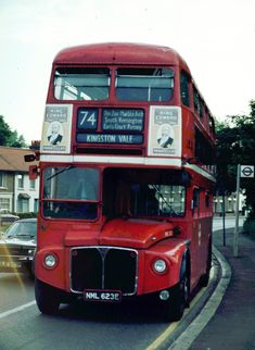 The 74 used to lay over in a layby on the busy at Kingston Vale, where is seen here. London Transport, Public Transport, Kingston Upon Thames, Routemaster, London Bus, Local History, Great Britain, Buses, A3