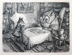 Bei der Wahrsagerin (The Fortune Teller) | A. Paul Weber