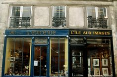 Paris shop fronts by mysterymoor, via Flickr
