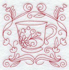 Teacup 9 (Redwork)