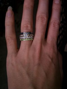 love this! stacking other rings with your wedding ring and band. This makes shopping for me so much easier. I will take one of each! :)