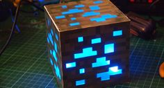 DIY Minecraft Ore Block-try to make it with plastic canvas?