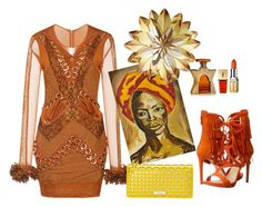 """""""african queen"""" by angie-324 ❤ liked on Polyvore featuring Christopher Kane, GUESS, NOVICA, Buxton, Bond No. 9, Yves Saint Laurent and Elizabeth Arden"""