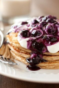 Quinoa Whole Wheat Greek Yogurt Pancakes
