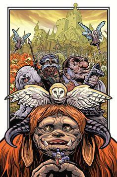 Jim Henson Labyrinth Anniv Special Comic Book by . Labyrinth Film, Jim Henson Labyrinth, David Bowie Labyrinth, Labyrinth Tattoo, Labyrinth Goblins, Fantasy Films, Fantasy Art, Kobold, Goblin King