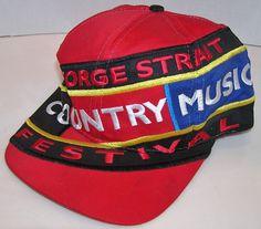 George Strait Country Music Festival Vintage Big Logo Snapback Hat Cap #RichardSouthern #BaseballCap