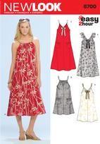861c396392d Easy Summer Dress Pattern Drawstring Neck Sleeveless Beach Cover Up ...