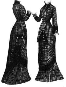 1878 Scotch Plaid Dress Pattern
