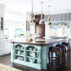 Exactly......Sense and Simplicity: A Rainbow of Kitchen Islands