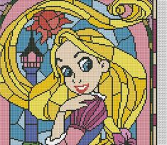 Rapunzel cross stitch pattern disney cross stitch by AvroraCS