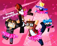 This Has... Well... As You Can Tell, SkyDoesMinecraft, DeadloxMC, The Fluffy/JeromeASF, MunchingBrotato, HuskyMUDKIPZ and MinecraftUniverse! Enjoy The Weirdness Of These People! :3