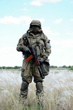 Spetsnaz with sound suppressed AKS-74U.