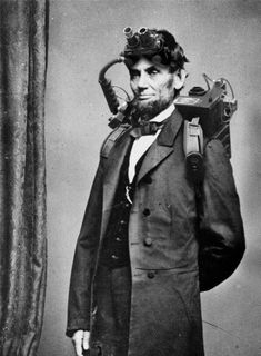 Abe Lincoln during his brief time as a paranormal investigator
