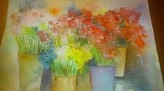 Pintar acuarelas: Mercado de flores II