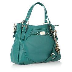 Dark turquoise scalloped edge tote bag - Shopper & tote bags - Handbags & purses - Women -