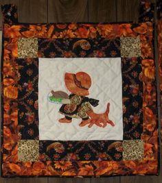 Thanksgiving Sunbonnet Sue Wall Hanging Pattern