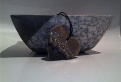 EstrellaYCorazon Arte - ciondolo cuore in ceramica raku