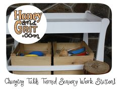 Changing Table Turned Sensory Work Station
