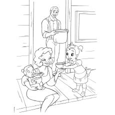 princess and the frog coloring pages james and eudora with baby tiana
