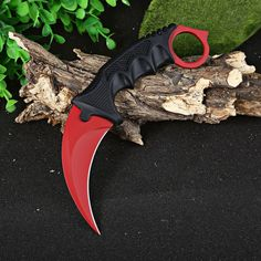 Karambit Knife CS GO Counter Strike RED Color Tactical Knife Survival Camping Hunting knives Cool Handmade Travel Kits Tools for Men