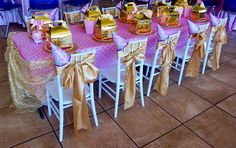 Kids White Chiavari Chairs for the Birthday Princess and her Royal Guests