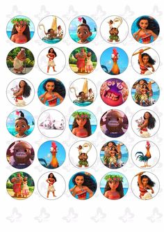 30 Moana Edible Paper Cupcake Cup Cake Topper Image for sale online Moana Birthday Party Theme, Moana Themed Party, Moana Party, 4th Birthday Parties, Birthday Cupcakes, Moana Cupcake Toppers, Maui Moana, Paper Cupcake, Wafer Paper