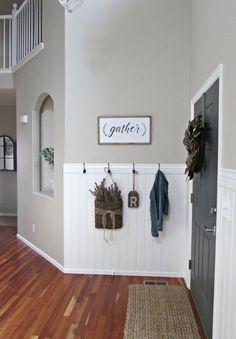Home Renovation, Home Remodeling, Casa Top, Diy Home Decor, Room Decor, Entry Wall, Hallway Shelf, Entryway Hooks, Entryway Storage