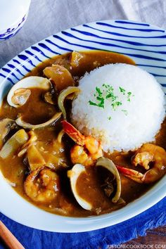 Instant Pot Japanese Seafood Curry ー If you love curry, it's time to try Japanese Seafood Curry packedwith amazing flavors from the shrimp, squid, scallops, spices, and kombu dashi. Cooked in an Instant Pot, this will be your favorite curry at all times. #Japanesecurry #curryrecipes #seafoodcurry #instantpotcurry #instantpotseadoodrecipes | Easy Japanese Recipes at JustOneCookbook.com