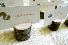 Food labels on small stumps