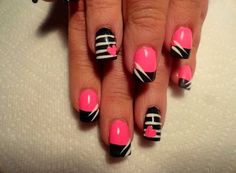Bright pinks get nails, fancy nails, love nails, pretty nails, creative nail Fancy Nails, Love Nails, Diy Nails, Pretty Nails, Creative Nail Designs, Cute Nail Designs, Creative Nails, Valentine Nail Art, Cute Nail Art