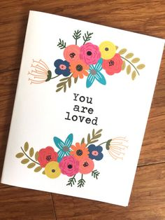 You are loved set of 8 notecards by DigitalsbyDandelions on Etsy Postive Quotes, Uplifting Quotes, Inspirational Quotes, Reading Words, I Love Reading, Faith Quotes, Bible Quotes, Love One Another Quotes, Short Bible Verses
