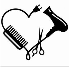 Silhouette Design Store: Hair Stylist Logo - From November 2018 I started my internship through school and I did an internship at a hairdresser. Silhouette Design, Silhouette Cameo Projects, Machine Silhouette, Silhouette Store, Silhouette Vinyl, Hairstylist Quotes, Hairstylist Tattoos, Cosmetology Tattoos, Cosmetology Quotes