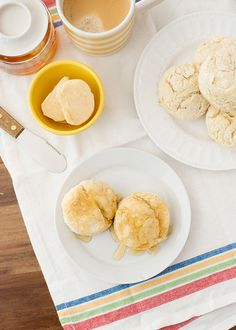 Easy Buttermilk Biscuits with Honey Cayenne Butter from @bakedbree