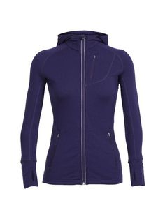 Shop for Women's Icebreaker Quantum Long Sleeve Zip Hoodie Gritstone Heather/Gritstone Heather. Get free delivery On EVERYTHING* Overstock - Your Online Women's Clothing Destination! Zip Hoodie, Breathe, Running Day, Icebreakers, Outdoor Outfit, Outdoor Gear, Hooded Jacket, Long Sleeve Tops, Sweaters For Women
