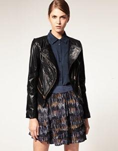 Vero Moda Very Gold Zip Biker Jacket - StyleSays