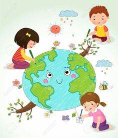 Cute boy drawing with colorful pencils Royalty Free Vector Image - VectorStockFind Vector illustration of kIds drawing the Earth stock vectors and royalty free photos in HD. Kids Vector, Free Vector Images, Vector Free, Cute Boy Drawing, Drawing For Kids, Earth For Kids, Earth Drawings, School Frame, Crafts For Kids