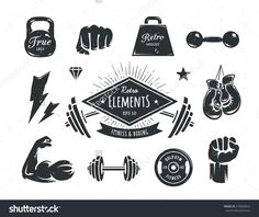 routine and fitness logo - Google Search                                                                                                                                                                                 More
