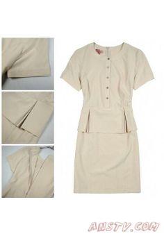 Femmes's Burberry Beige Dresses 1003a