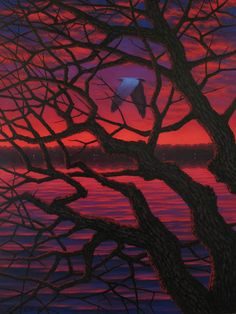 RED | Red Sky in the Morning. Oil on canvas, 48″x36″, 2008, Leonard ...