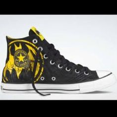 f47f2dd17b27 Converse shoes DC Comics- Batman Chuck Taylor All Star Shoes Black Yellow  hi - Canvas Shoes Online