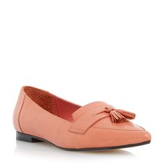 DUNE LADIES GLINT - Pointed Toe Tassel Loafer - coral | Dune Shoes Online