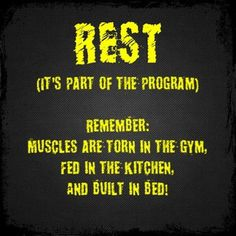 make sure you're getting 7-9 hours of rest every day!!!