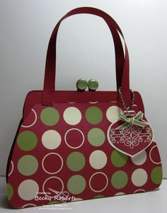 8/28/2012; Becky at 'Inking Idaho' blog;  Xmas purse with link to tutorial