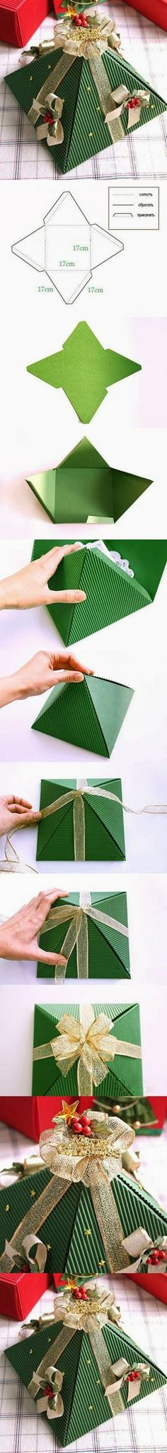 DIY : Pyramid Christmas Box | DIY & Crafts Tutorials
