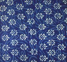 Hand block printed Indigo fabric. Batik Organic Cotton. via Etsy. blue and white