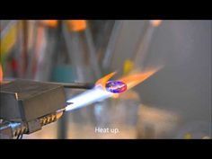 Blowing a pendant using the CarloDona blowpipe small. - YouTube