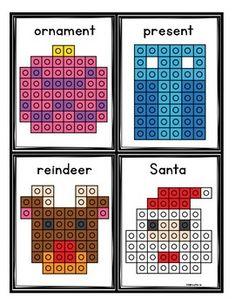 Christmas Snap Cube Mats by Melissa Moran Christmas Math, Christmas Crafts For Kids, Christmas Activities, Winter Activities, Space Activities, Creative Curriculum Preschool, Preschool Centers, Math Centers, Lego Math